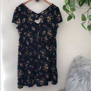NWT DENIM & SUPPLY black floral babydoll dress🌼